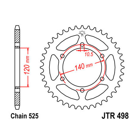 Звезда DCR 498-40 (JTR498-40)