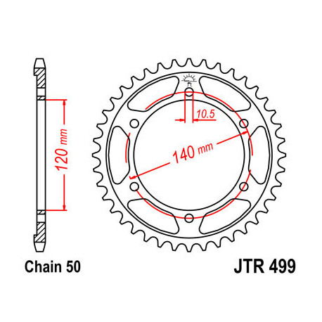Звезда DCR 499-48 (JTR499-48)