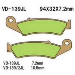 Колодки тормозные Vesrah VD-139JL