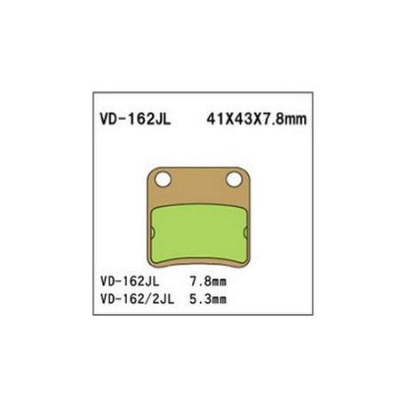 Колодки тормозные Vesrah VD-162SJL