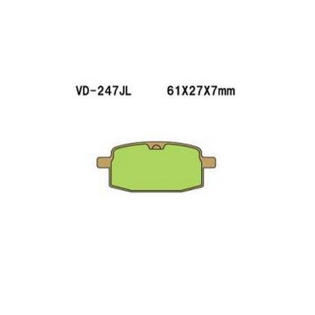 Колодки тормозные Vesrah VD-247JL
