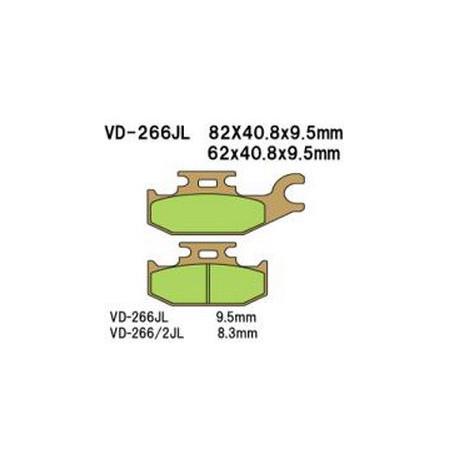 Колодки тормозные Vesrah VD-266/2JL