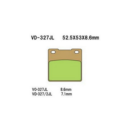 Колодки тормозные Vesrah VD-327/2JL