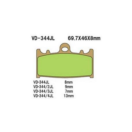 Колодки тормозные Vesrah VD-344RJL