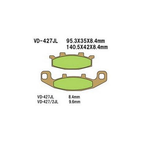 Колодки тормозные Vesrah VD-427/2JL