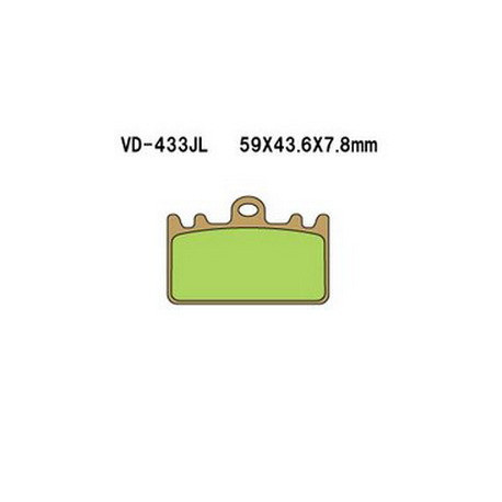 Колодки тормозные Vesrah VD-433JL