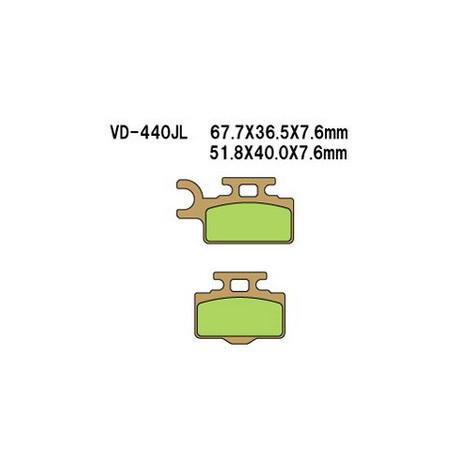 Колодки тормозные Vesrah VD-440JL